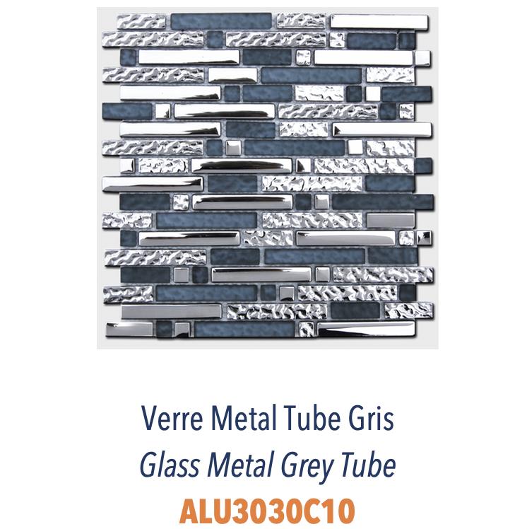 Mosa/ïque Transluzent MOS86-0107 Carrelage en verre composite et verre Dor/é